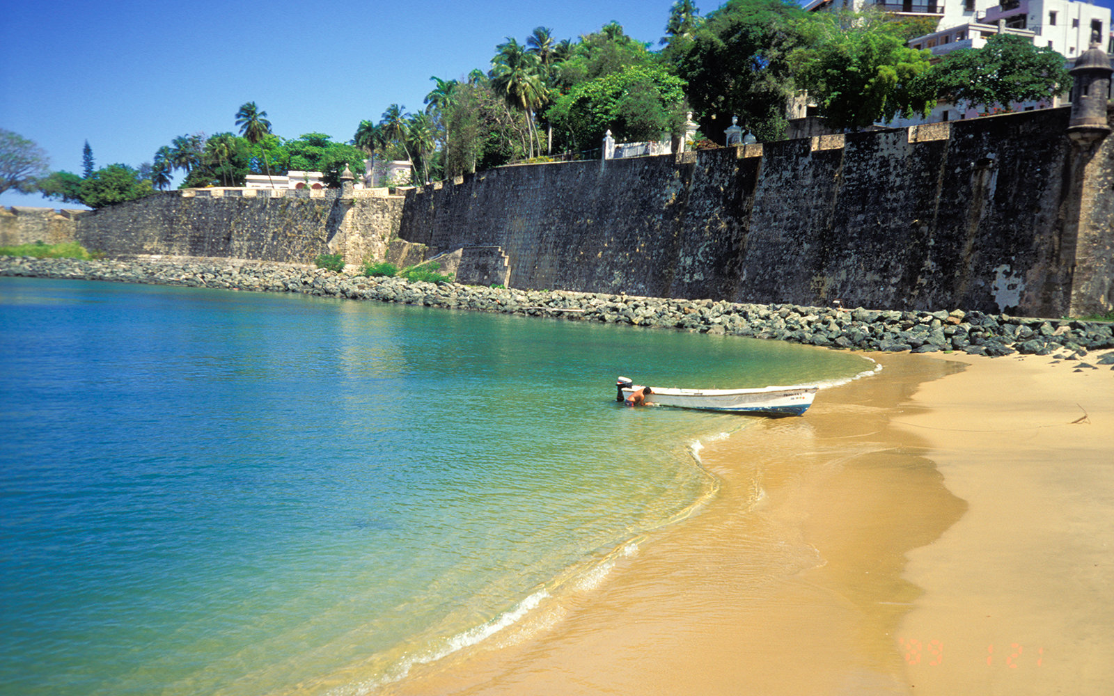 Puerto Rico, Old San Juan Beach. (Photo by Education Images/UIG via Getty Images)