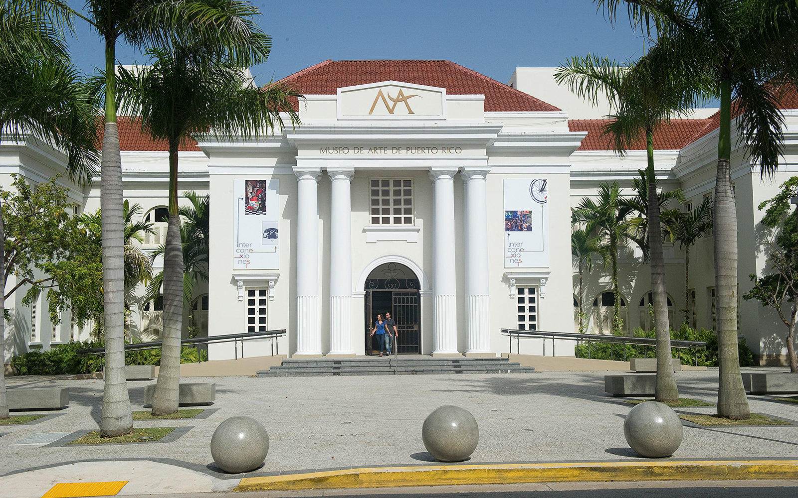 SAN JUAN, PUERTO RICO - JUNE 04: The entrance of the Museo de Arte de Puerto Rico (Puerto Rican Museum of Art) on June 4, 2012 in San Juan, Puerto Rico.  (Photo by Alfredo Sosa/The Christian Science Monitor via Getty Images)