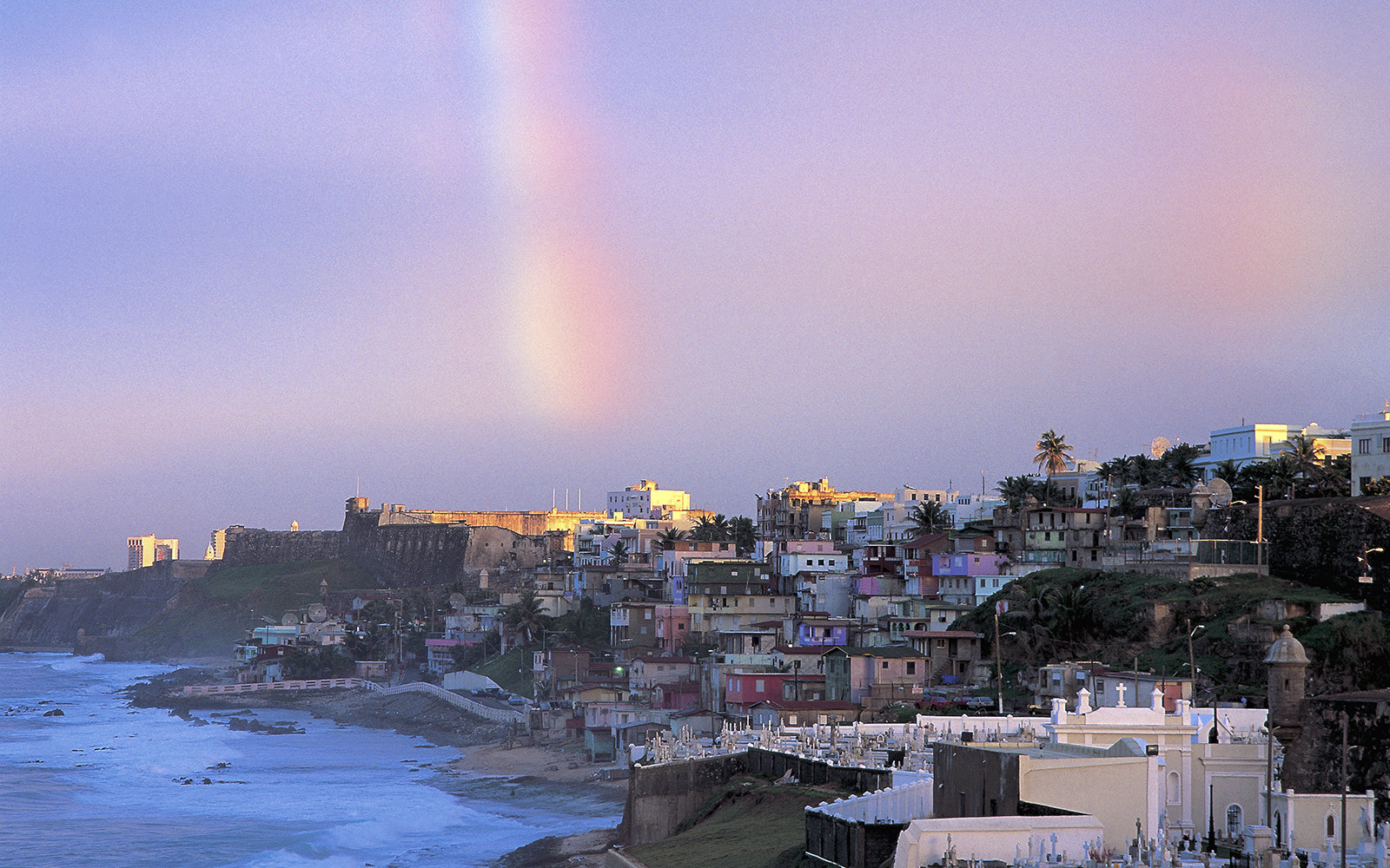 UNSPECIFIED - CIRCA 2005:  Puerto Rico - San Juan - Old city, UNESCO's World Heritage Site,1983 - The Pearl - Rainbow.  (Photo By DEA / S. AMANTINI/De Agostini/Getty Images)