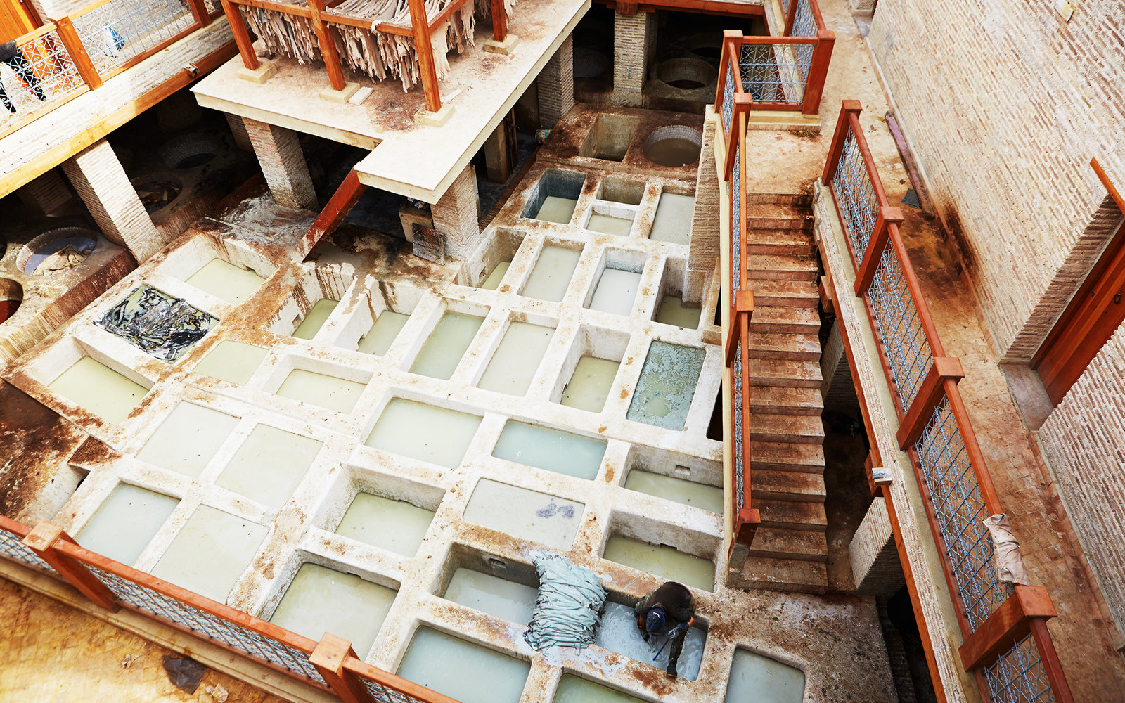Tannery in Fez Morocco