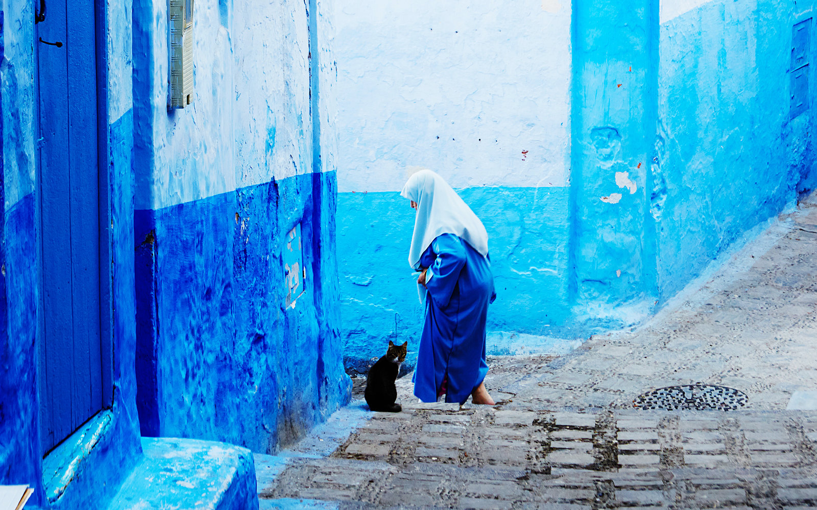Chefchaouen Street in Morocco