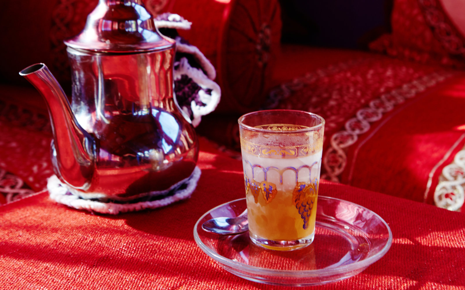 Mint Tea in Chefchaouen Morocco