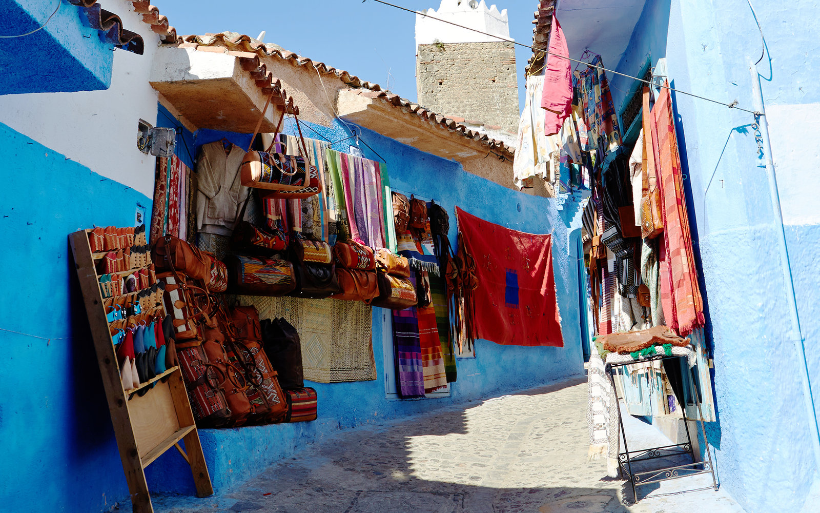 Street Vendors in Chefchaouen Morocco