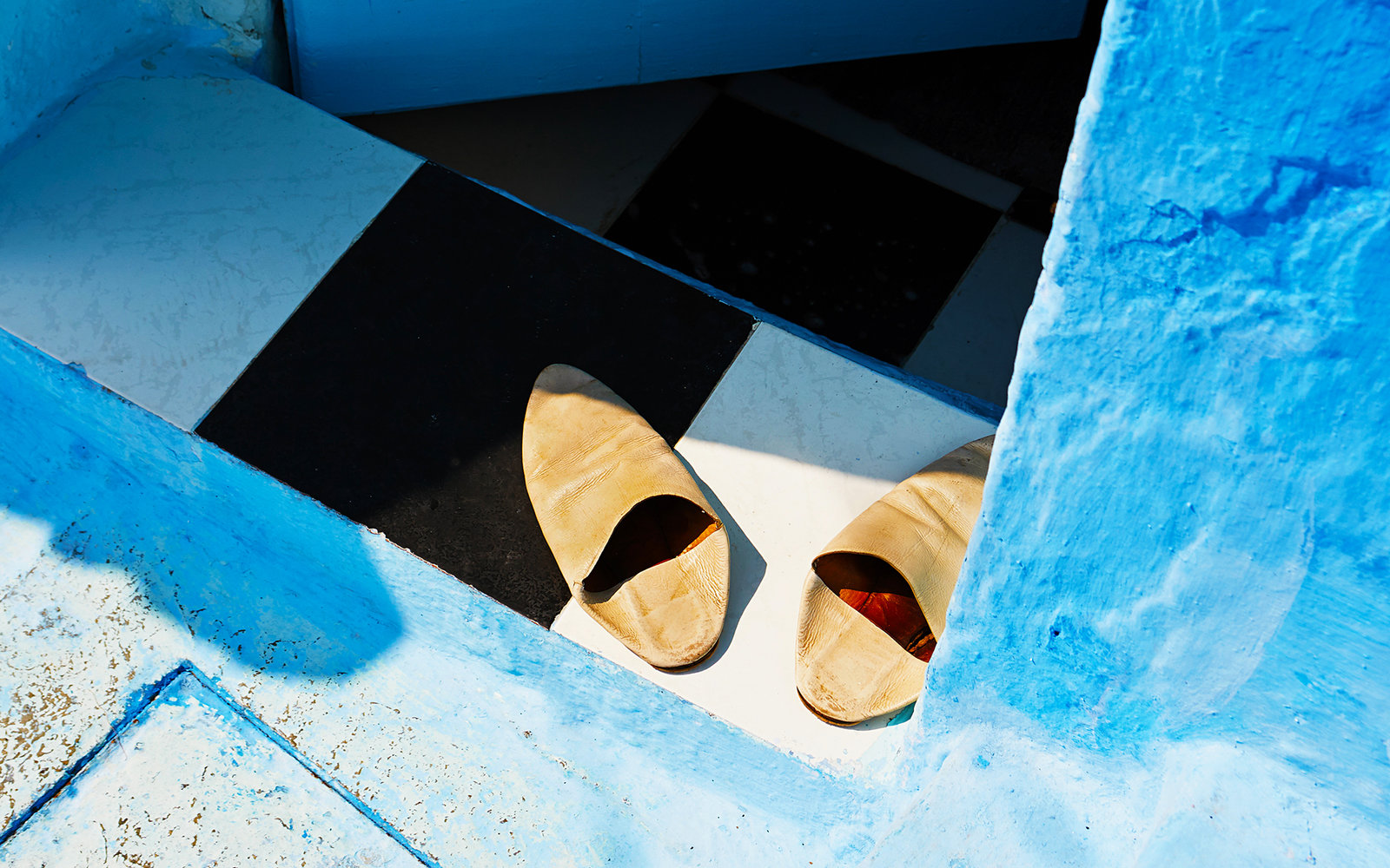 Babouche Slippers in Chefchaouen Morocco