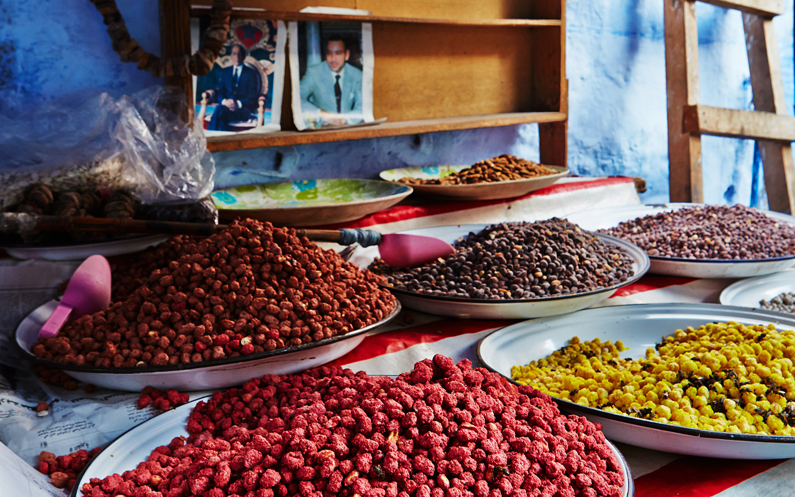 Nuts and Berries for Sale in Chefchaouen Morocco