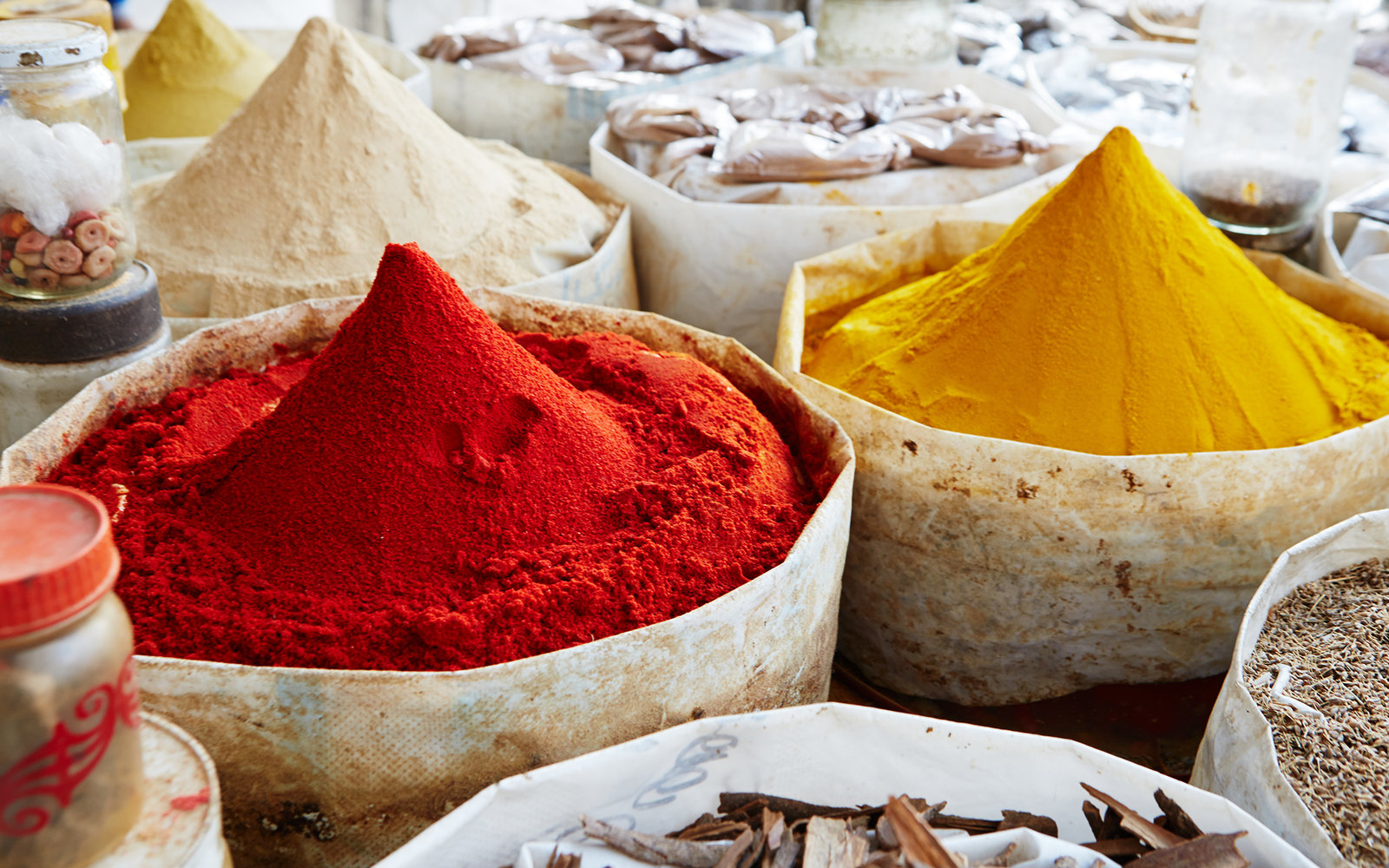 Spices at Market in Chefchaouen Morocco