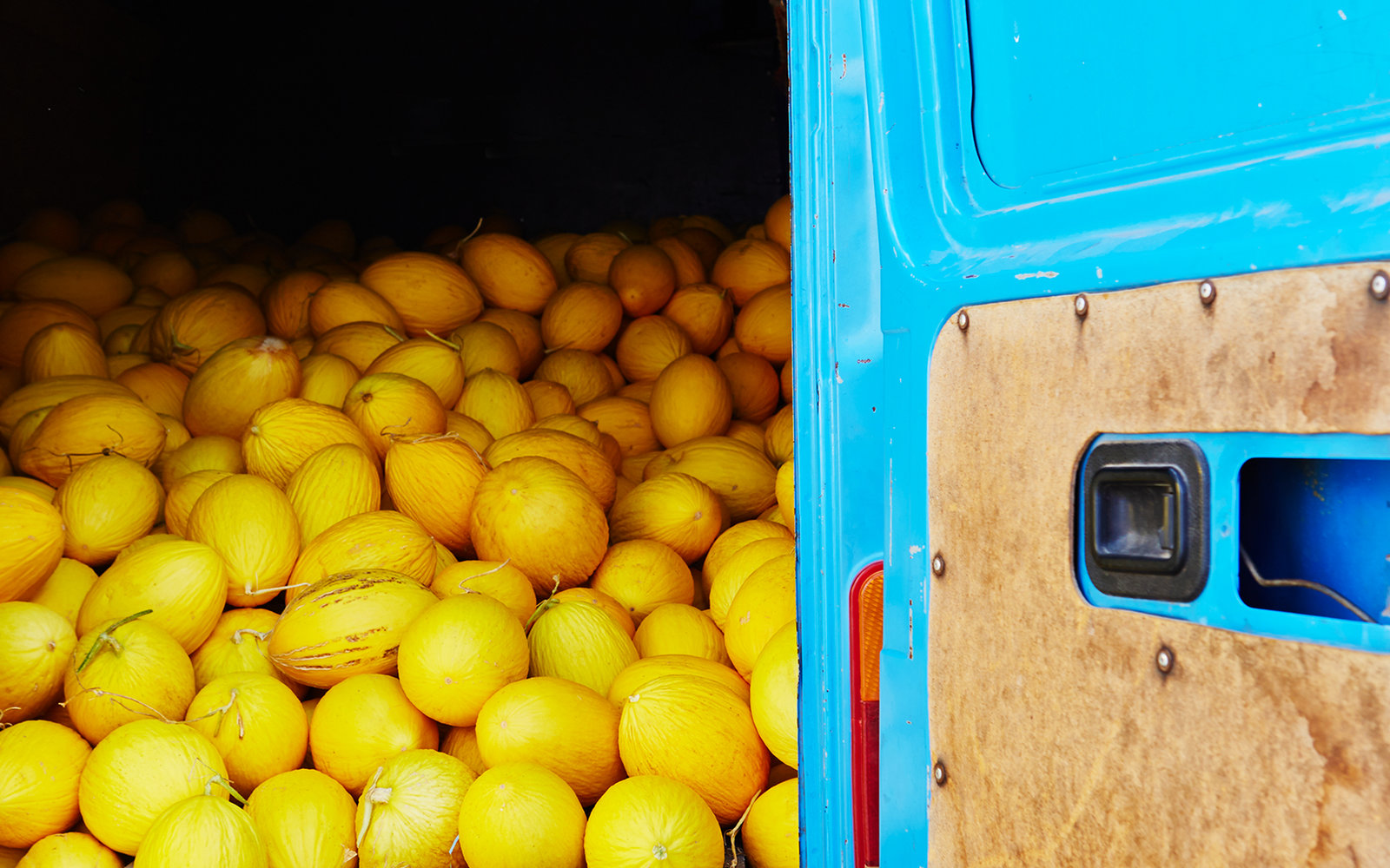 Yellow Melon at Market in Chefchaouen Morocco