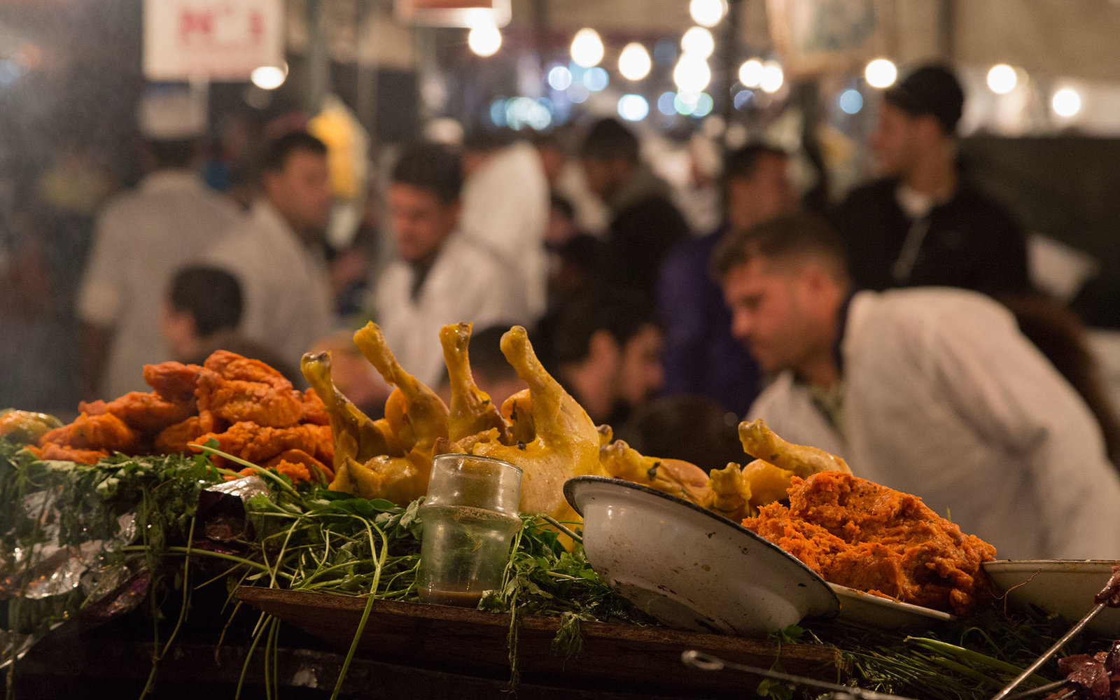 food stall in Place Jemaa el-Fna