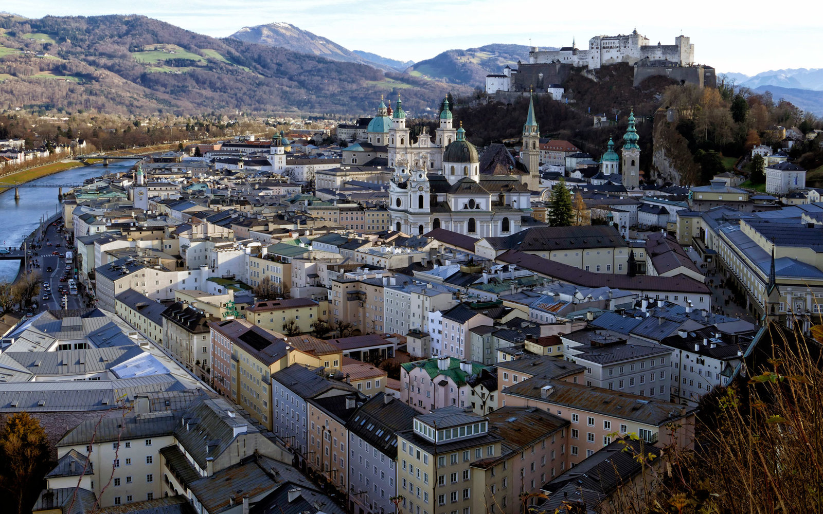 Salzburg, view over old town