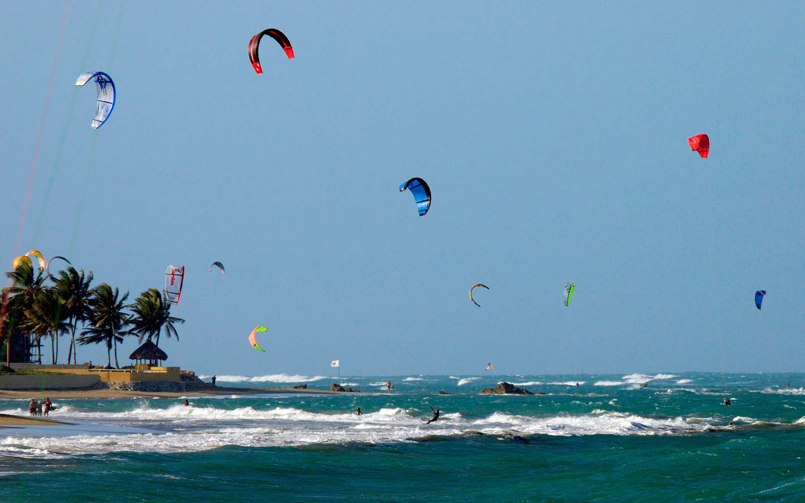 Dominican Republic, Cabarete, Windsurf And Kitesurf (Photo by Marka/UIG via Getty Images)