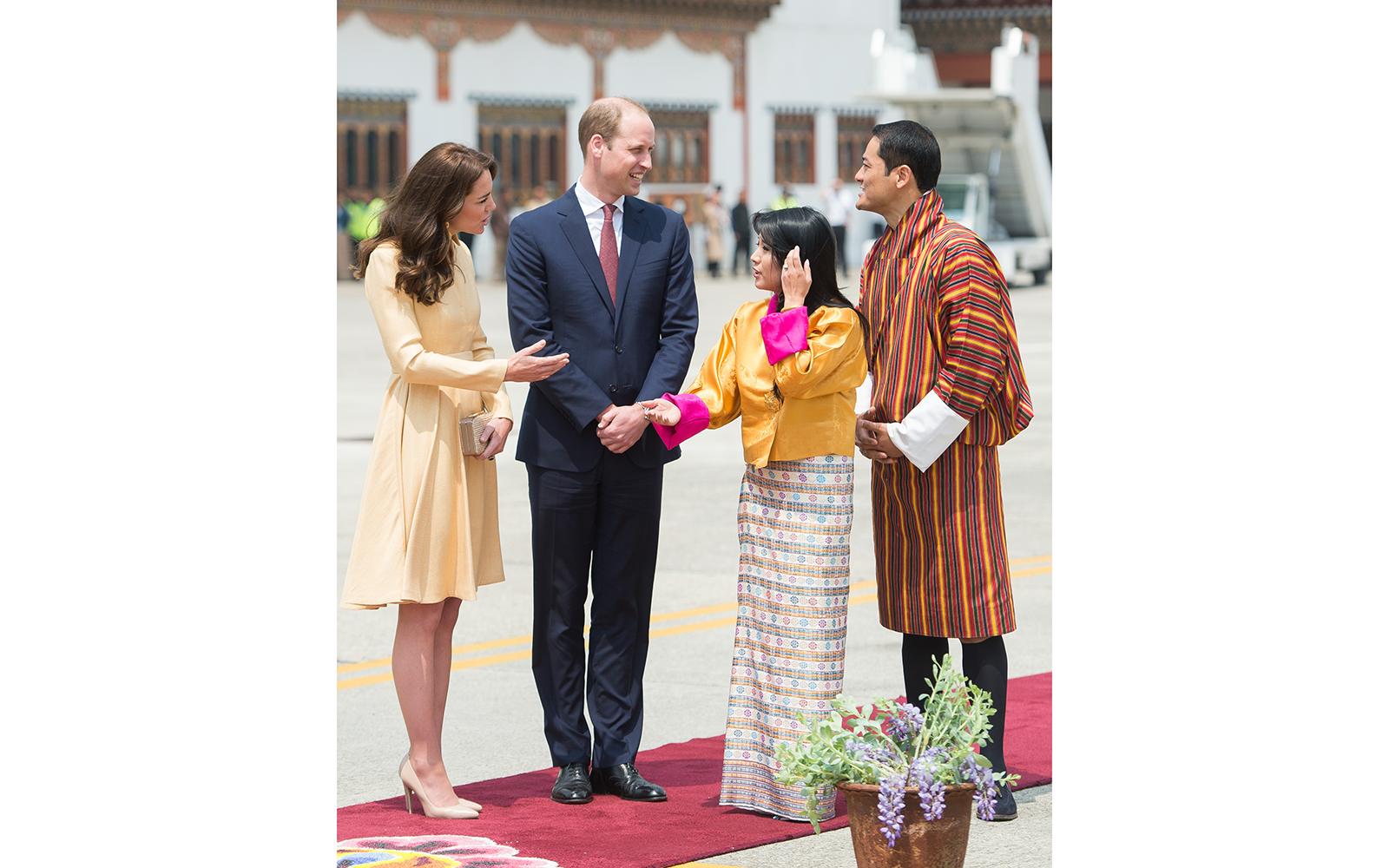 Greeting Bhutanese Royalty