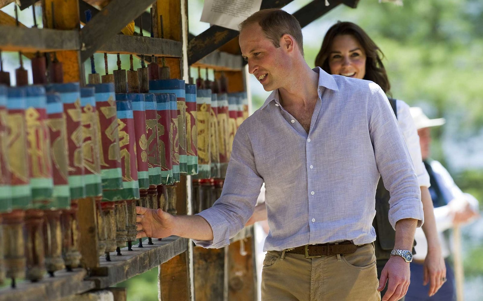 THIMPHU, BHUTAN - APRIL 15:  Prince William, Duke of Cambridge and Catherine, Duchess of Cambridge trek up to Tiger's Nest during a visit to Bhutan on the 15th April 2016 in Thimphu, Bhutan. The Royal couple are visiting Bhutan as part of a week long visi