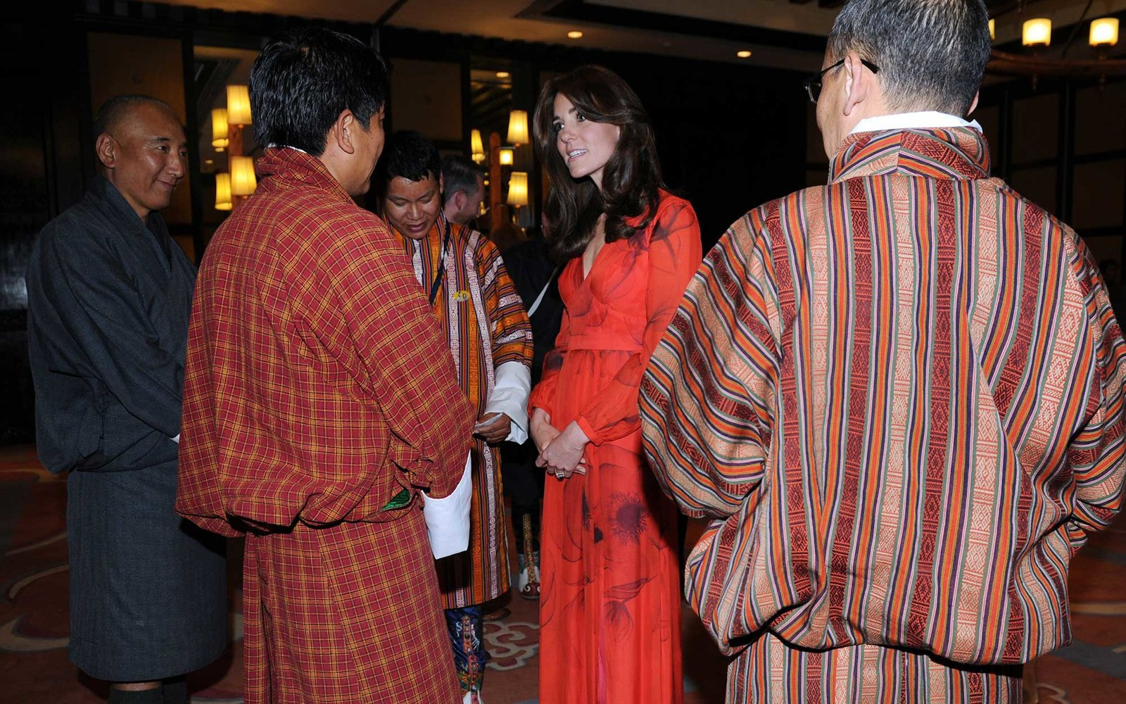 THIMPHU, BHUTAN - APRIL 15: Catherine, Duchess of Cambridge attends a reception celebrating UK and Bhutanese friendship and cooperation at the Taj Hotel on April 15, 2016 in Thimphu, Bhutan. The Royal couple are visiting Bhutan as part of a week long visi