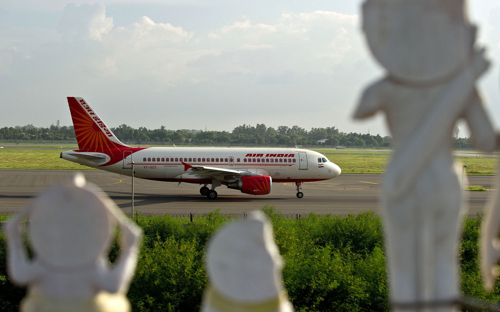 Air India Airplane at New Delhi Airport