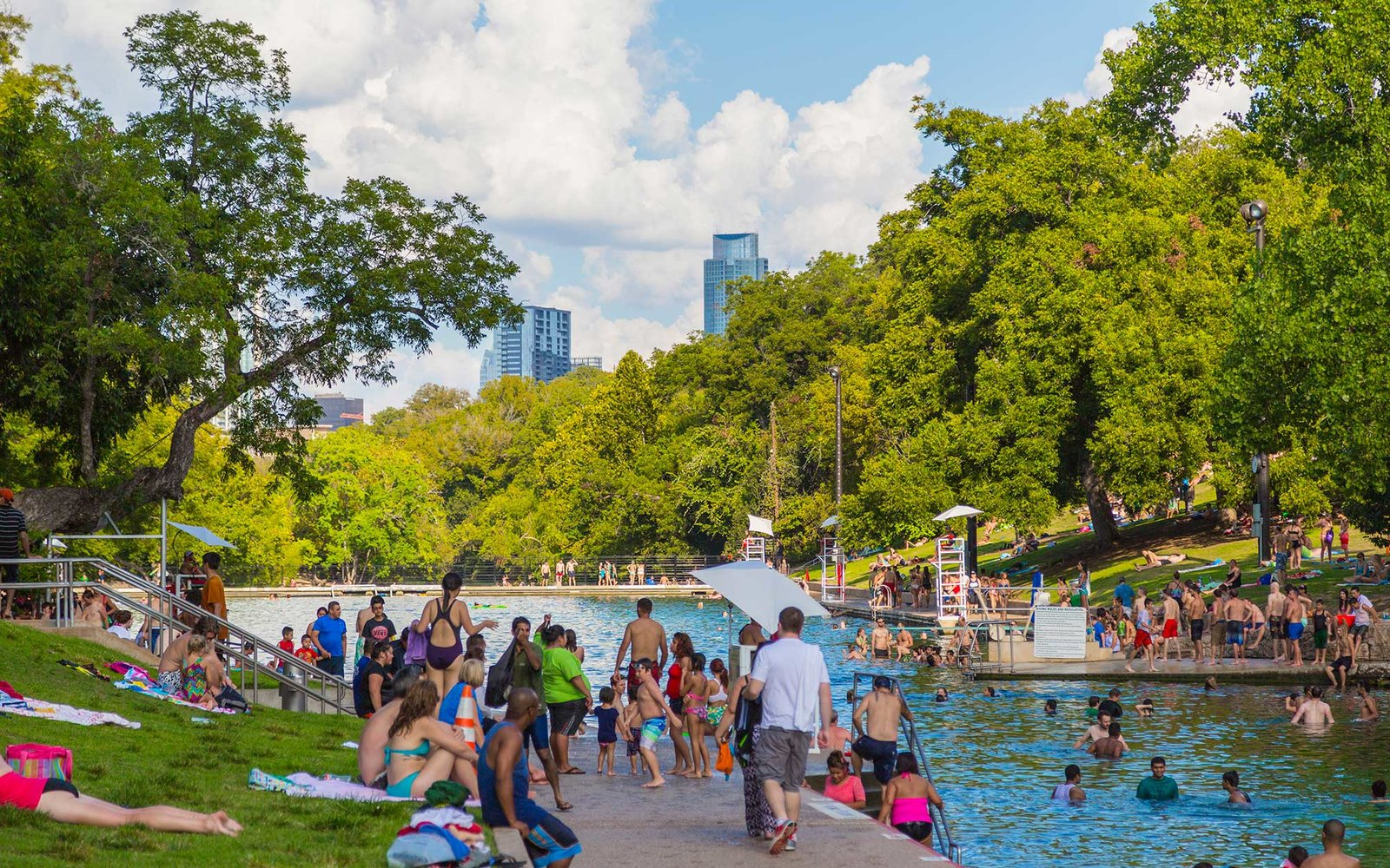 Barton Springs Pool, Austin, Texas