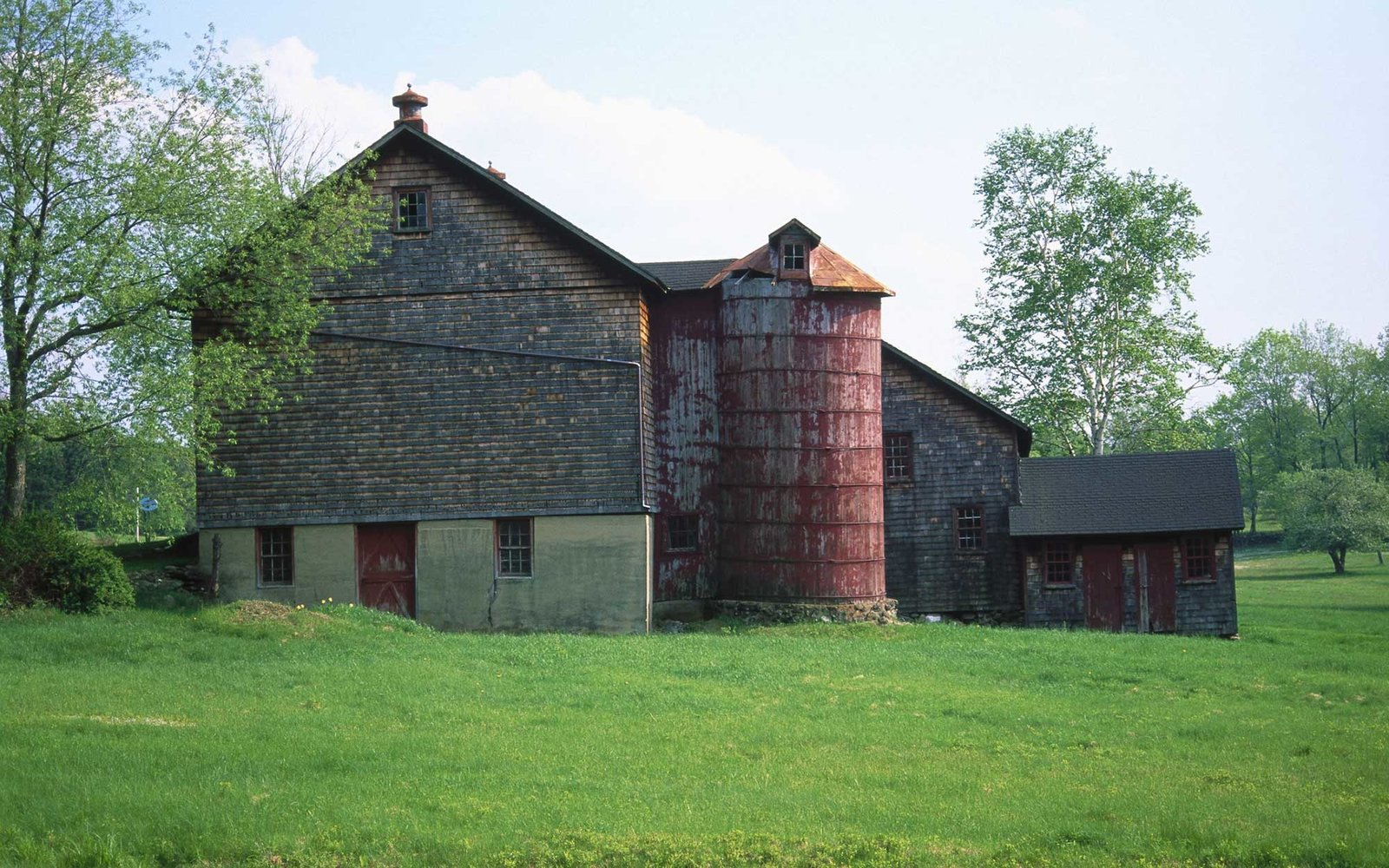 Great Barrington, MA, Barn and silo