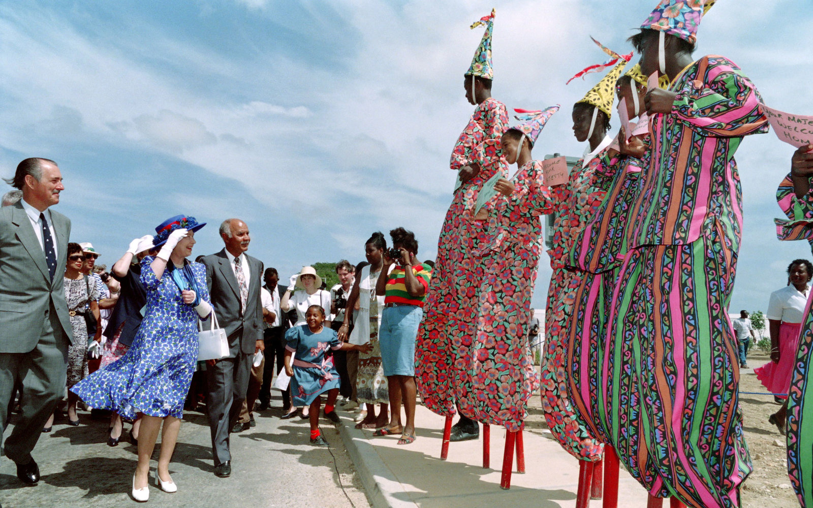 Queen Elizabeth II West Indies 1994