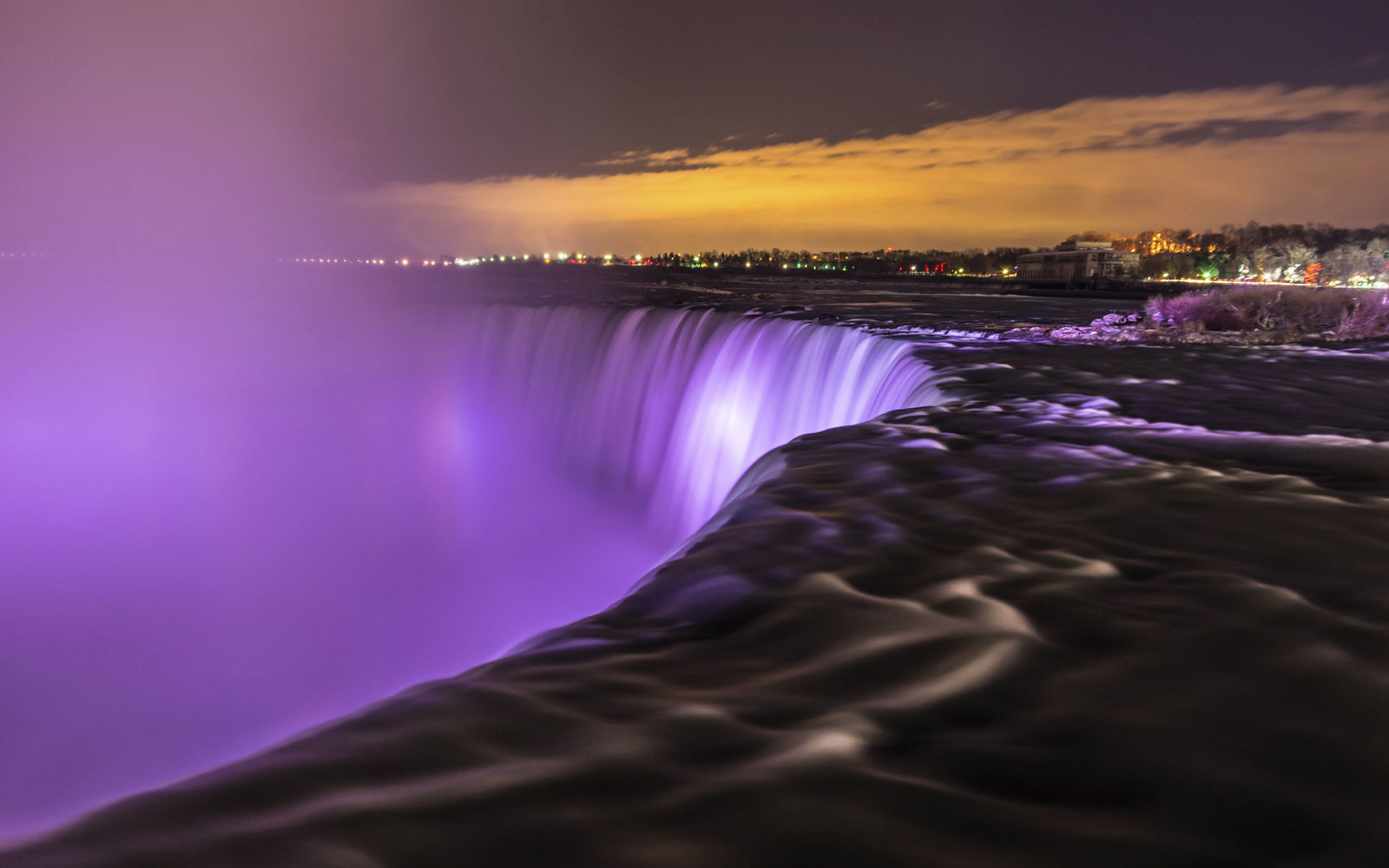 Purple Niagara Falls