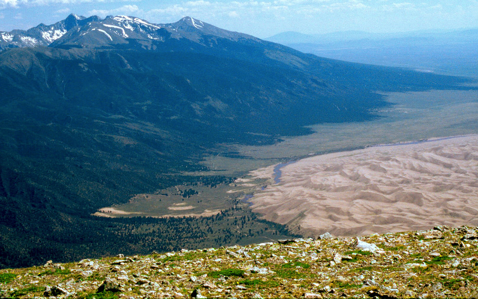 Mount Herard at Great Sand Dunes National Park & Preserve in Colorado