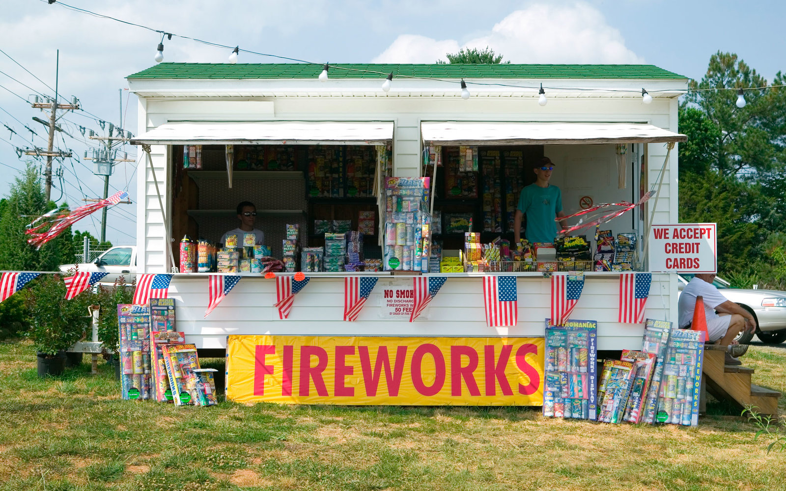 Fireworks stand on route 29 in rural Virginia