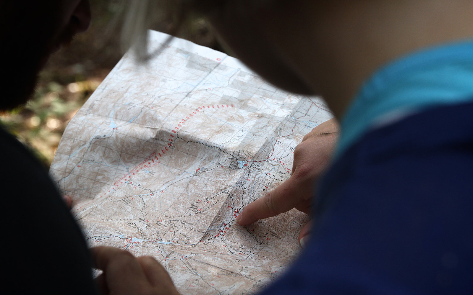 looking at map