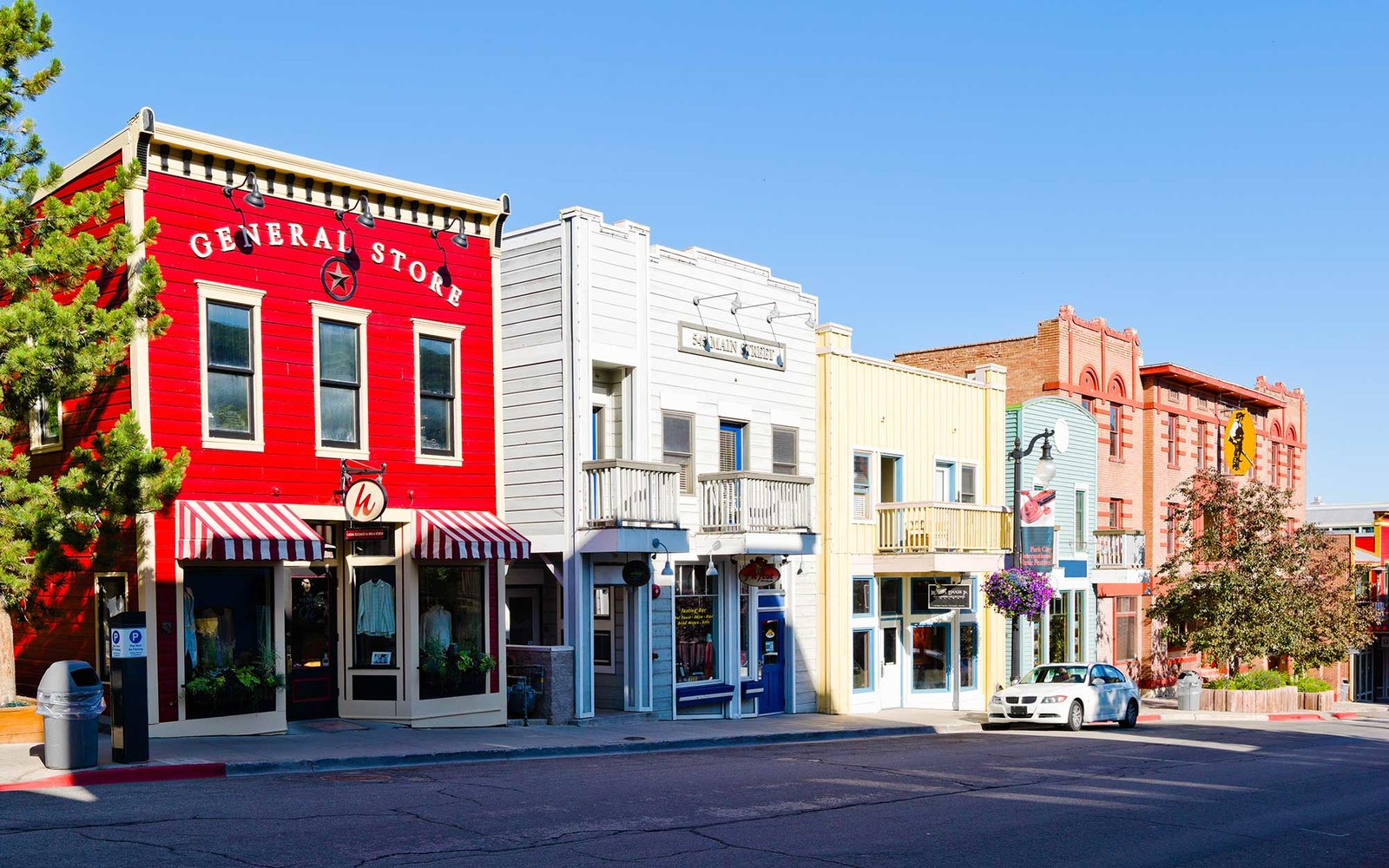 Buildings along a street, Main Street, Park City, Utah, USA