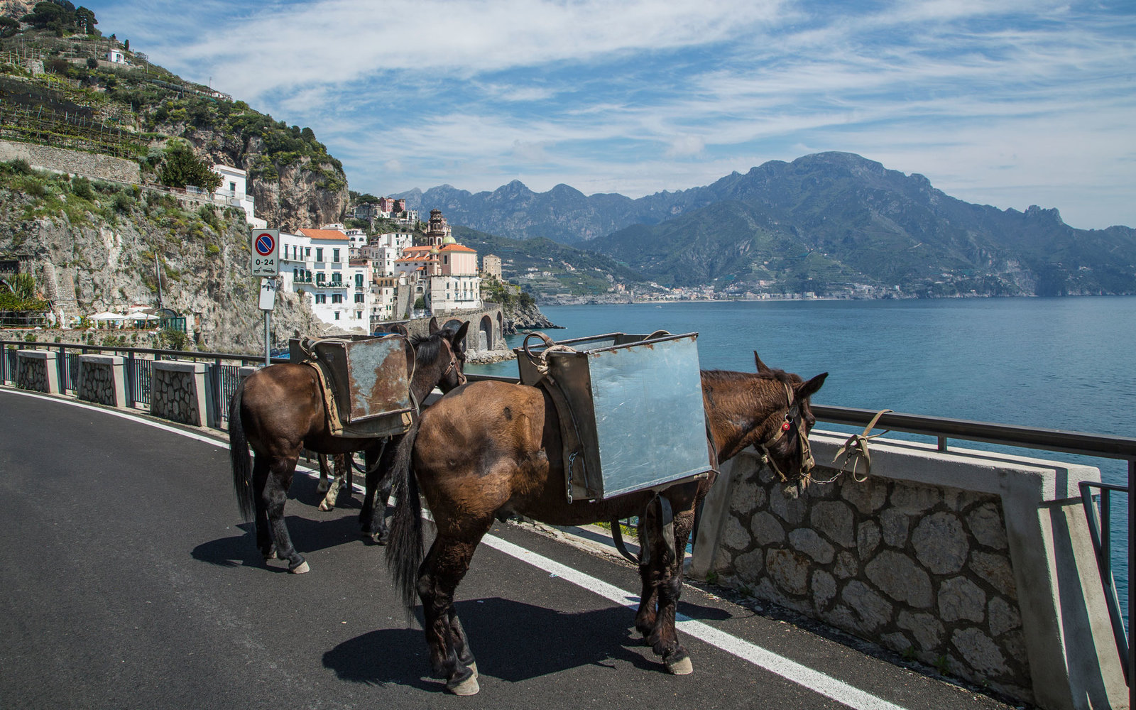 Mules in Atrani, on Amalfi Peninsula