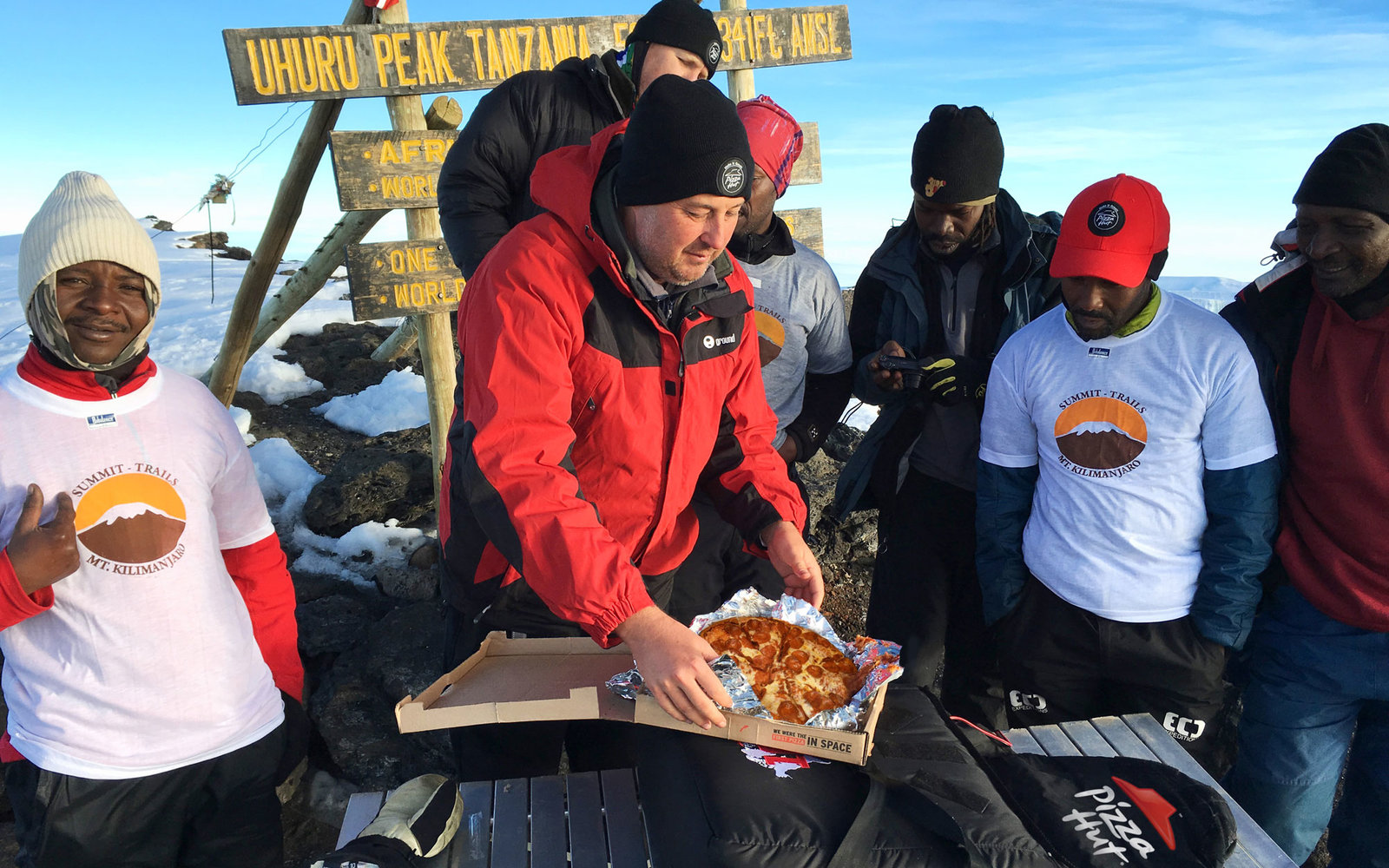 pizza hut just delivered a pizza to the top of mt kilimanjaro