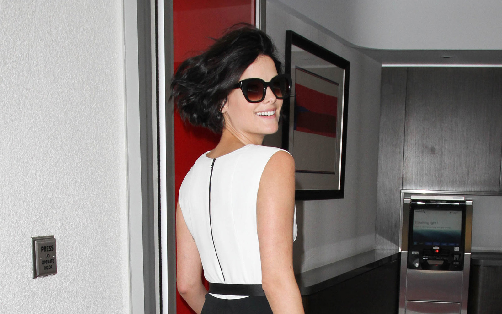 Jaimie Alexander is seen at LAX