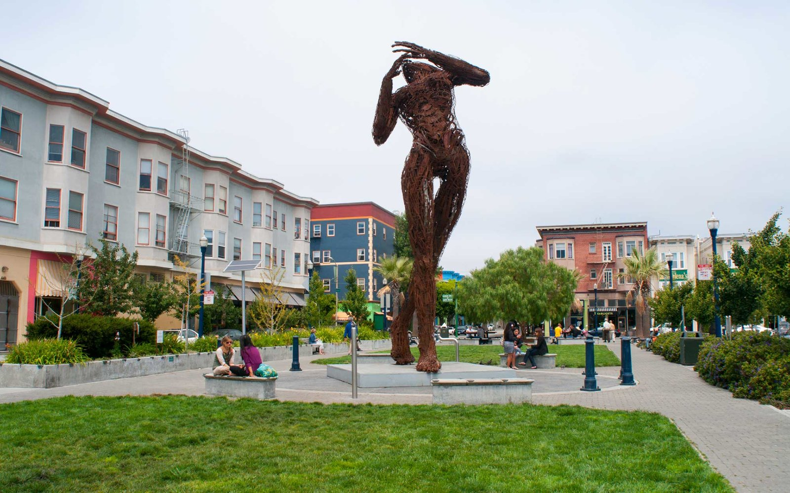 Statue in Hayes Valley park.