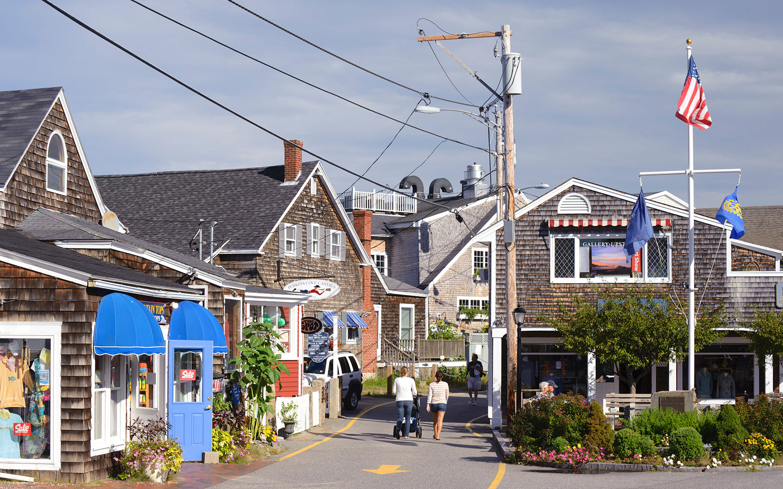 Perkins Cove, Ogunquit, Maine, USA.