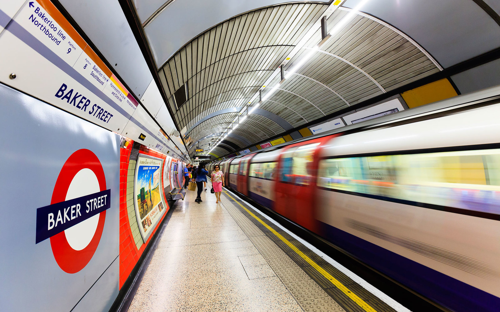 Baker Street Station on the London Underground
