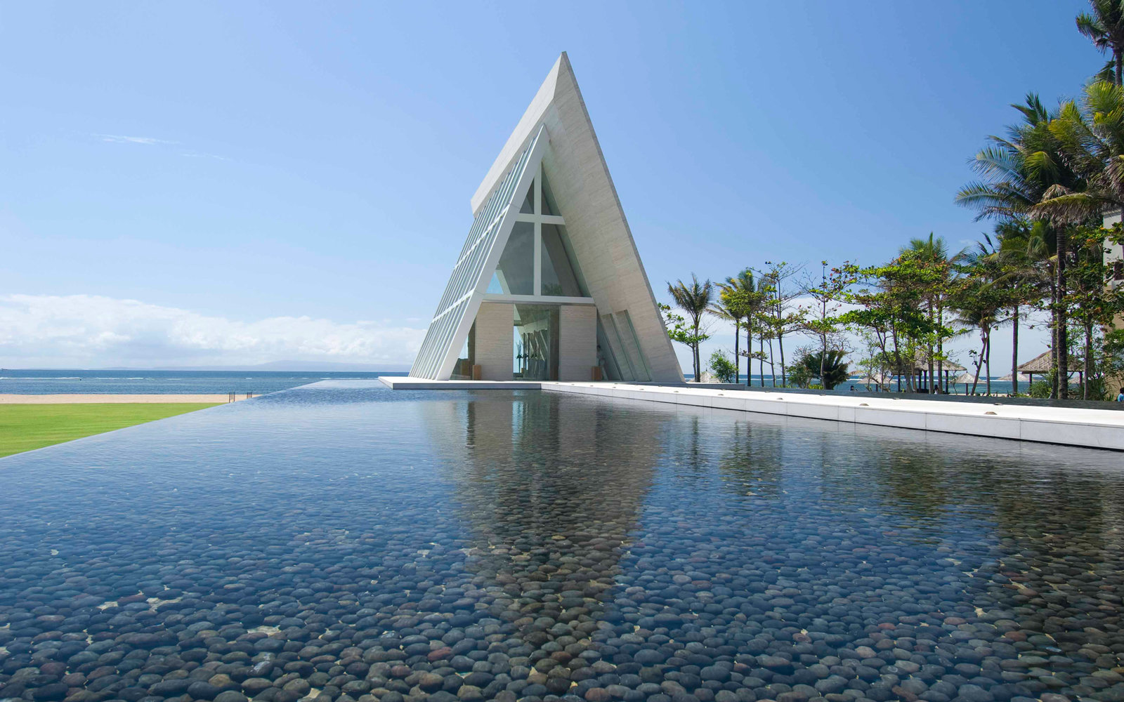 Beautiful hotel wedding chapels travel leisure for Bali mariage location