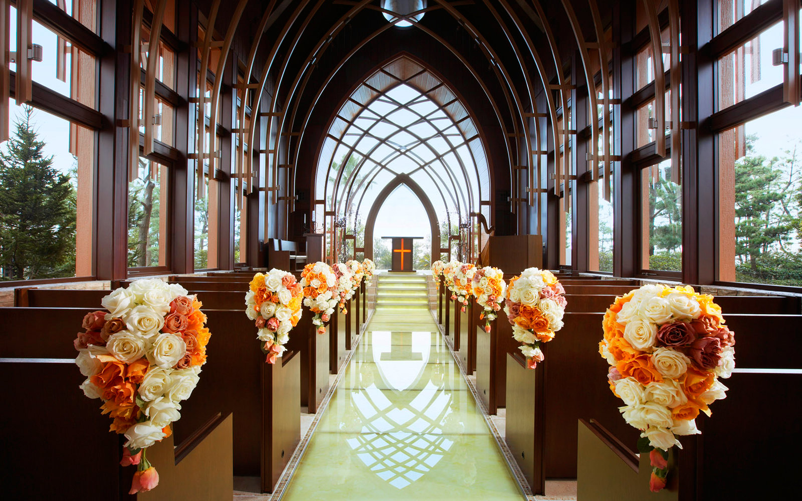 Beautiful hotel wedding chapels travel leisure sheraton grande tokyo bay wedding chapel junglespirit Images