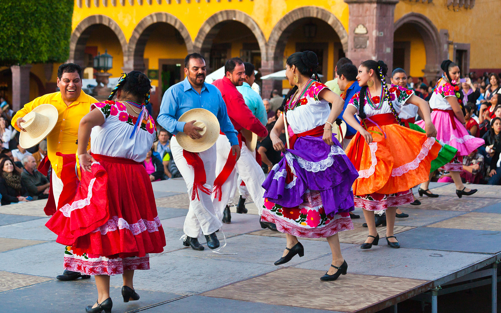 Dancers In The Jardin Or Central Square, San Miguel De Allende, Mexico