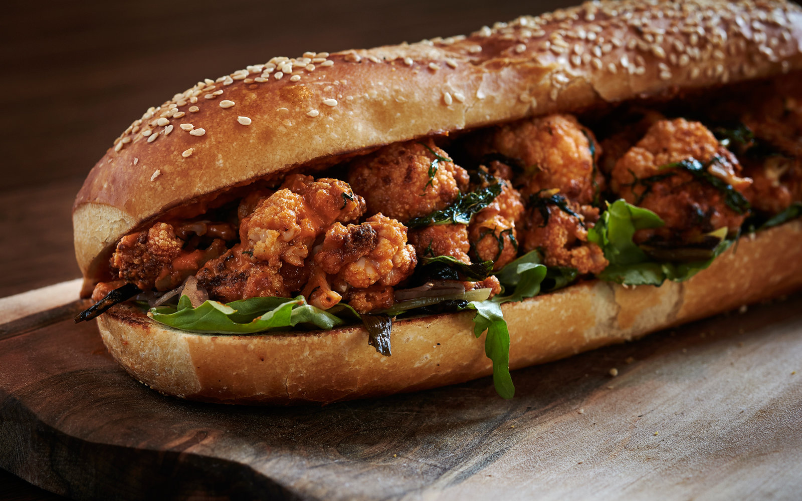G By Mike Isabella Roasted Cauliflower Sandwich