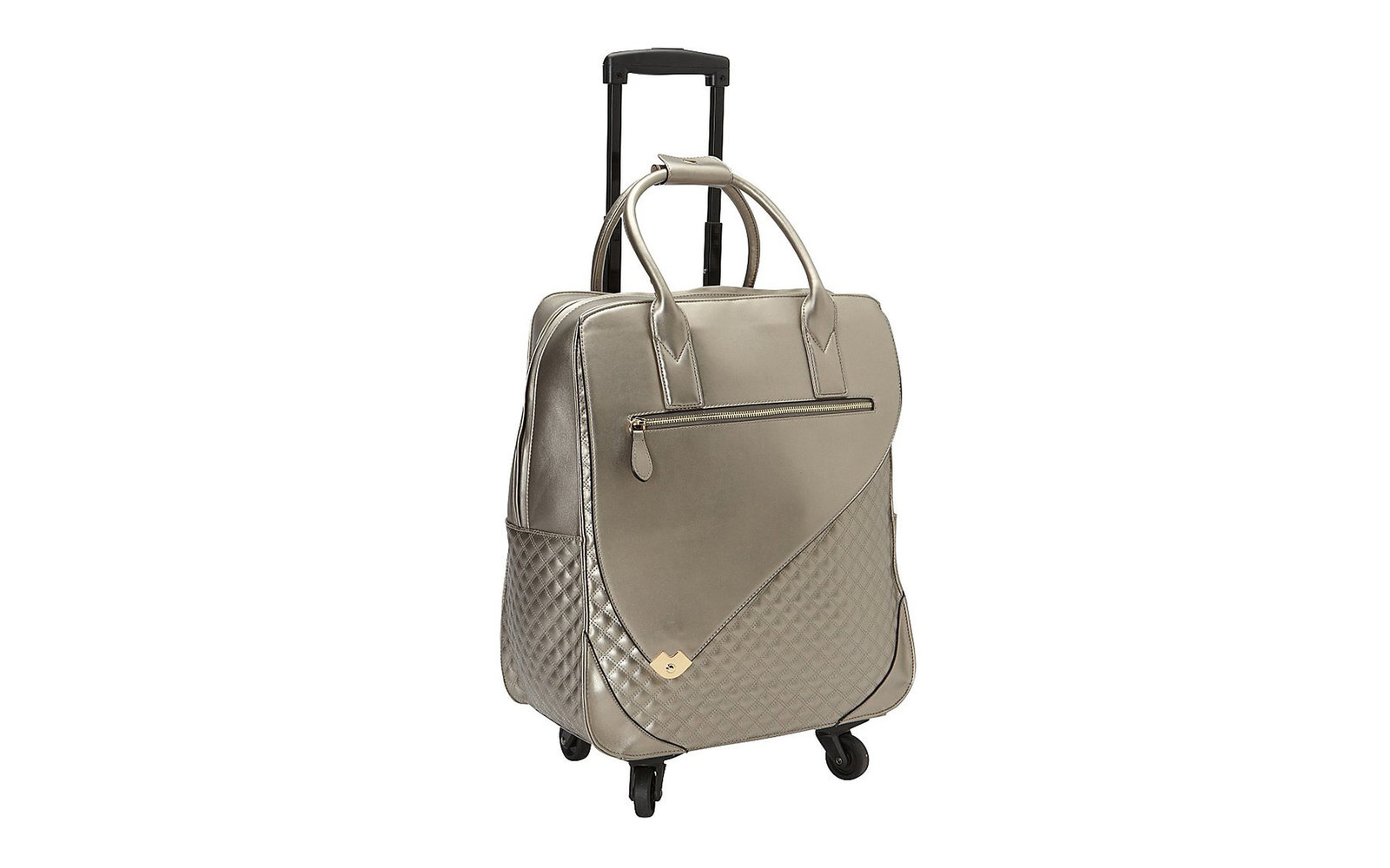 Hang Accessories Metallic 360 Rolling Bag in Champagne