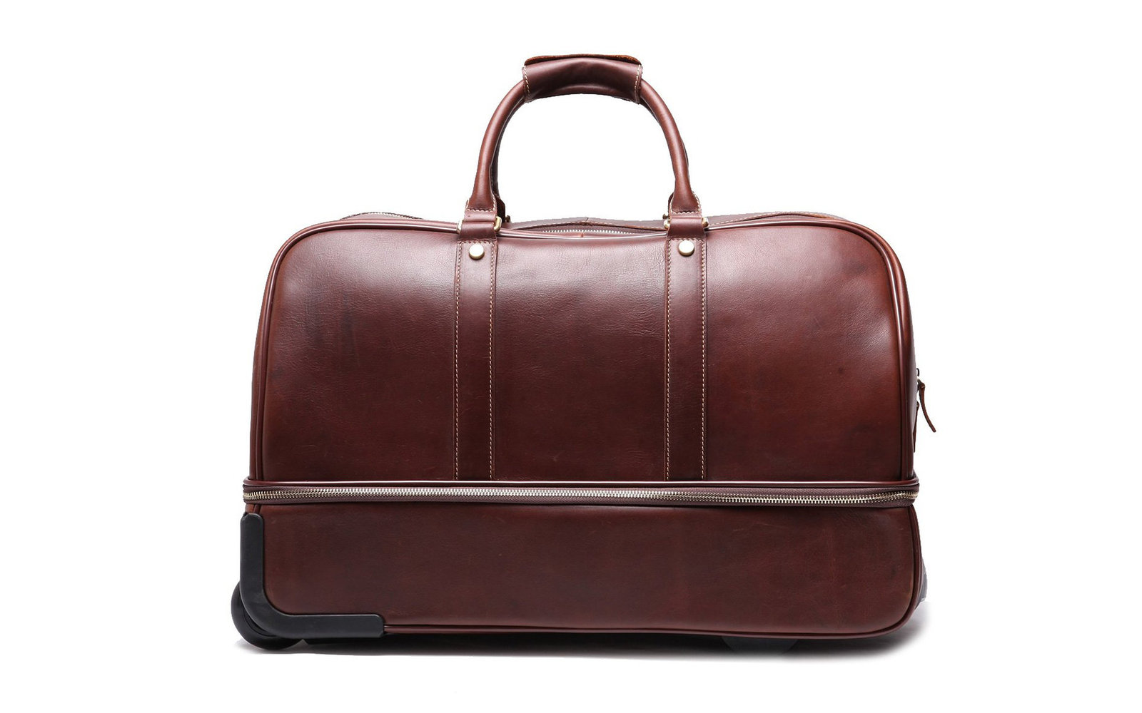 Leathario Leather Luggage Wheeled Duffel