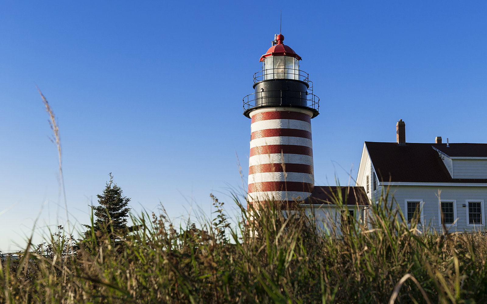 Lubec West Quoddy Head Lighthouse in Maine