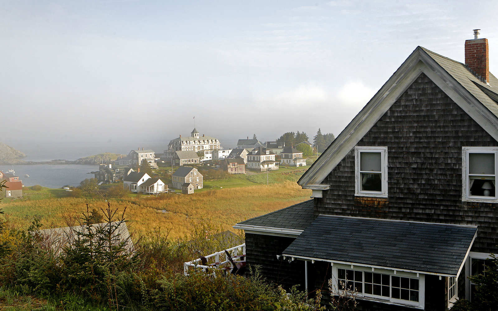 Monhegan Island Harbor Side in Maine