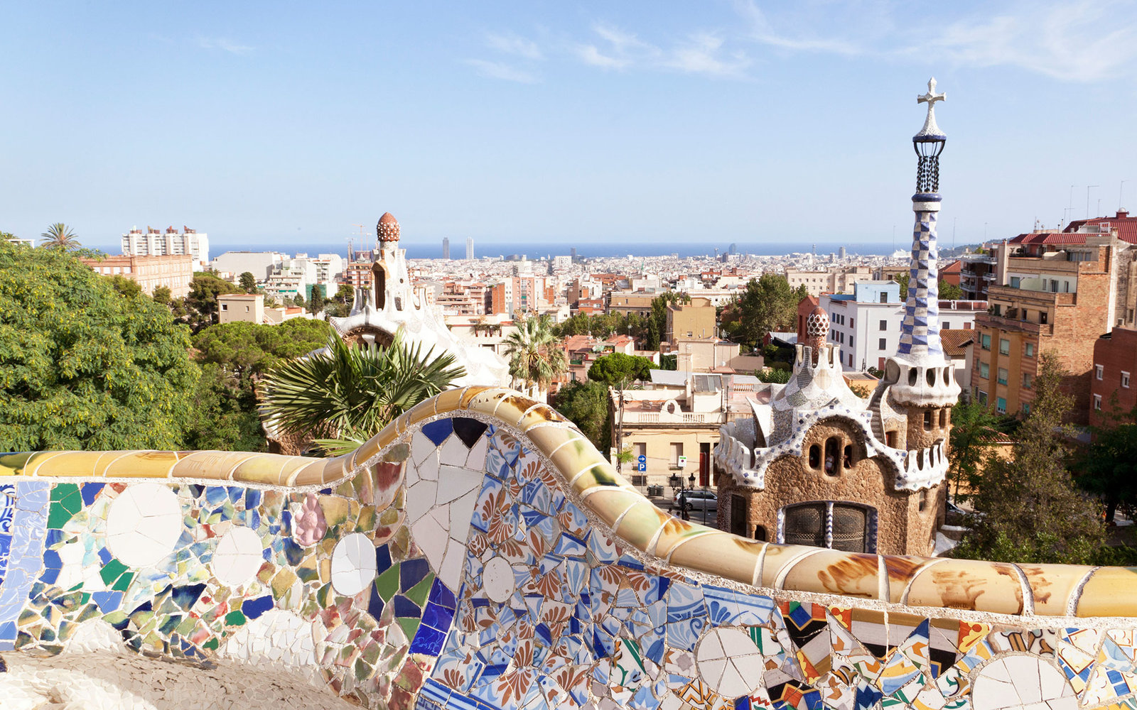 Park Guell garden in Barcelona, Spain