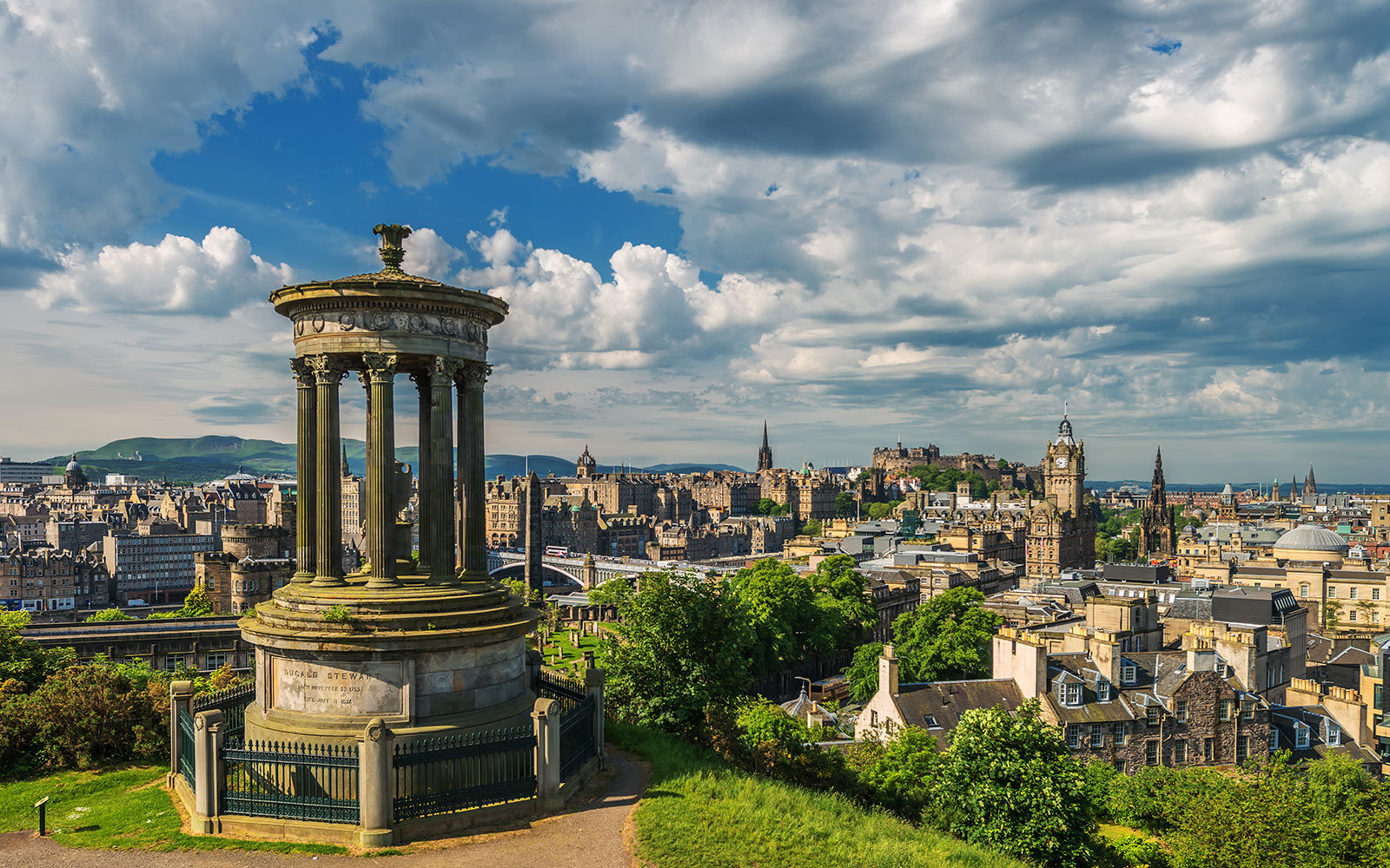 Edinburgh seen from Calton Hill.
