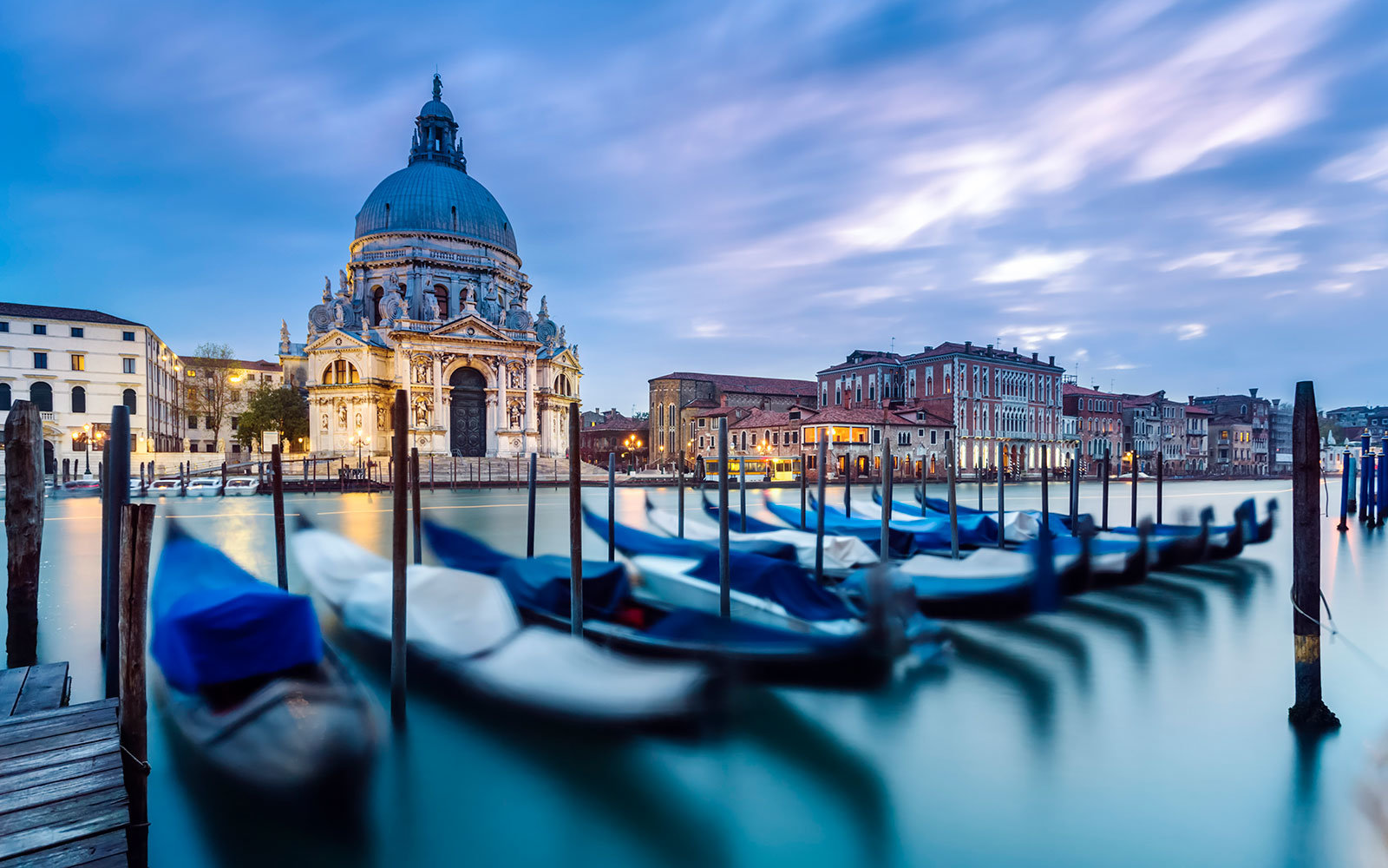 Italy, Veneto, Venice. Santa Maria della Salute church on the Grand Canal