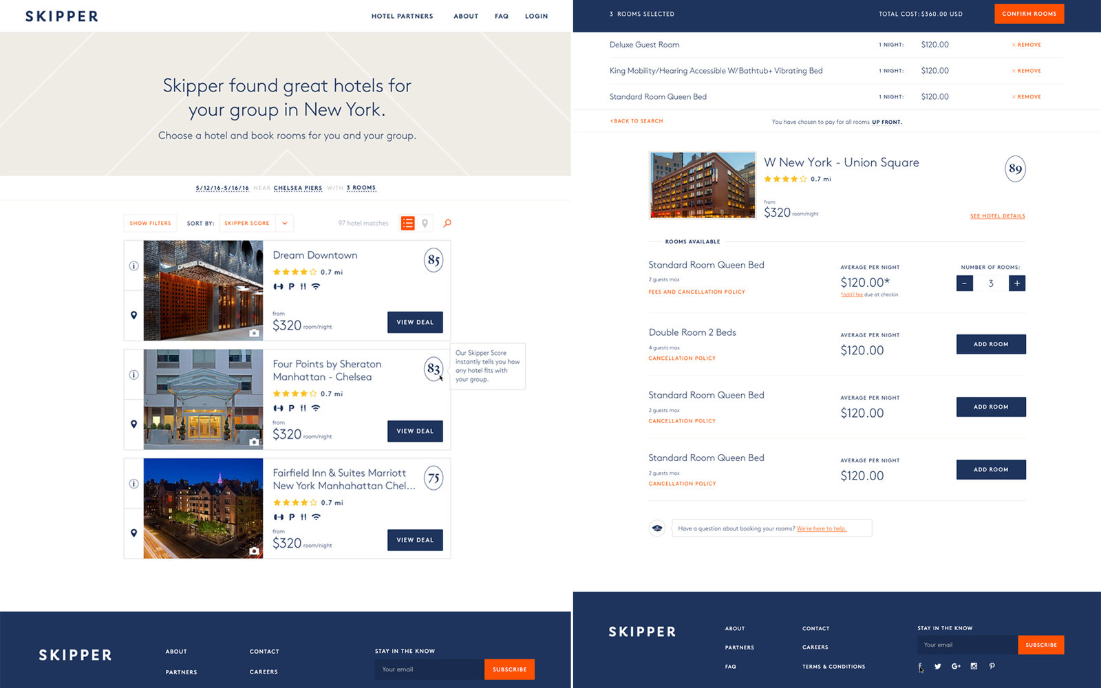 Skipper Hotel Booking App