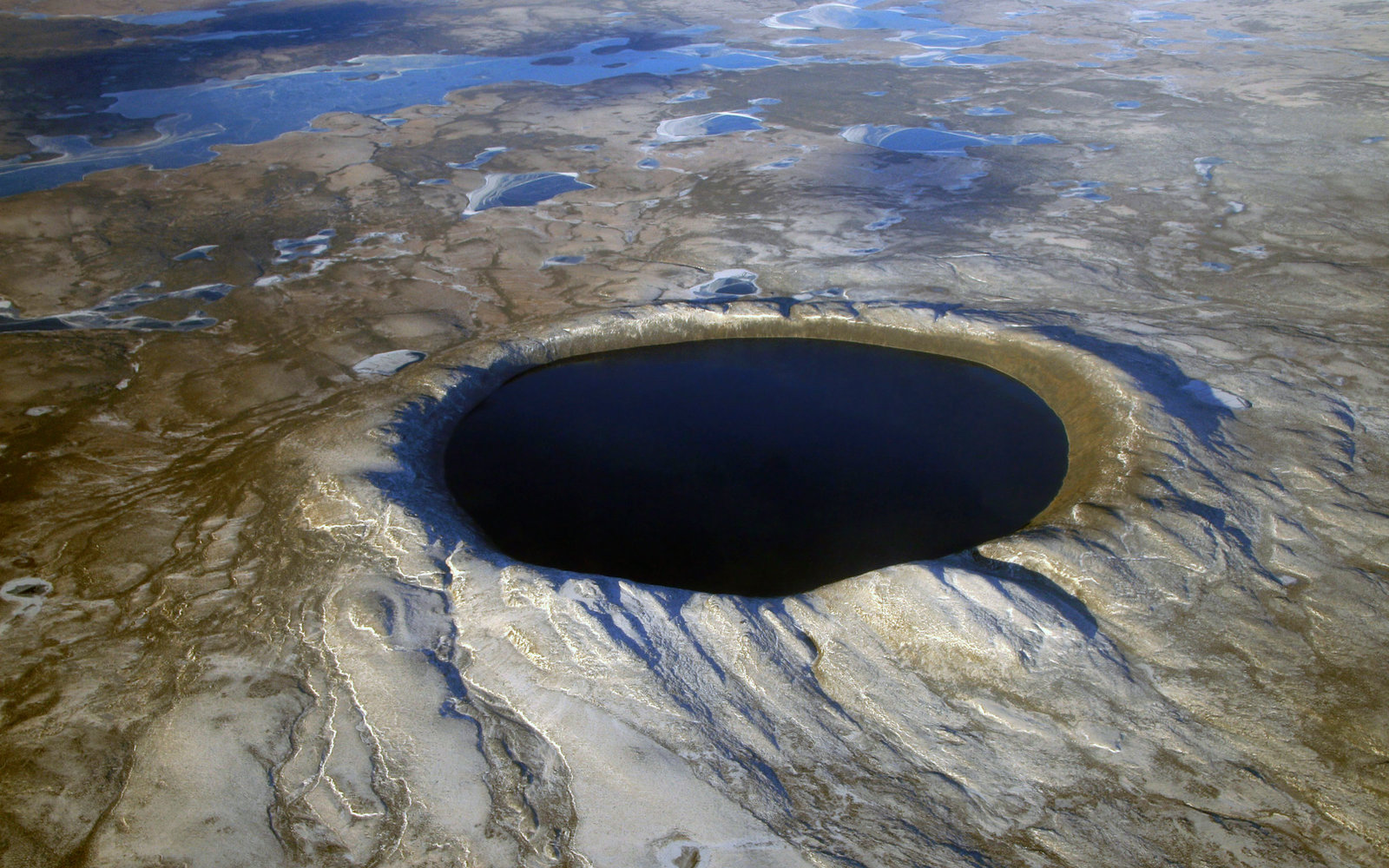 Pingualuit Impact Crater,  Quebec,  Canada