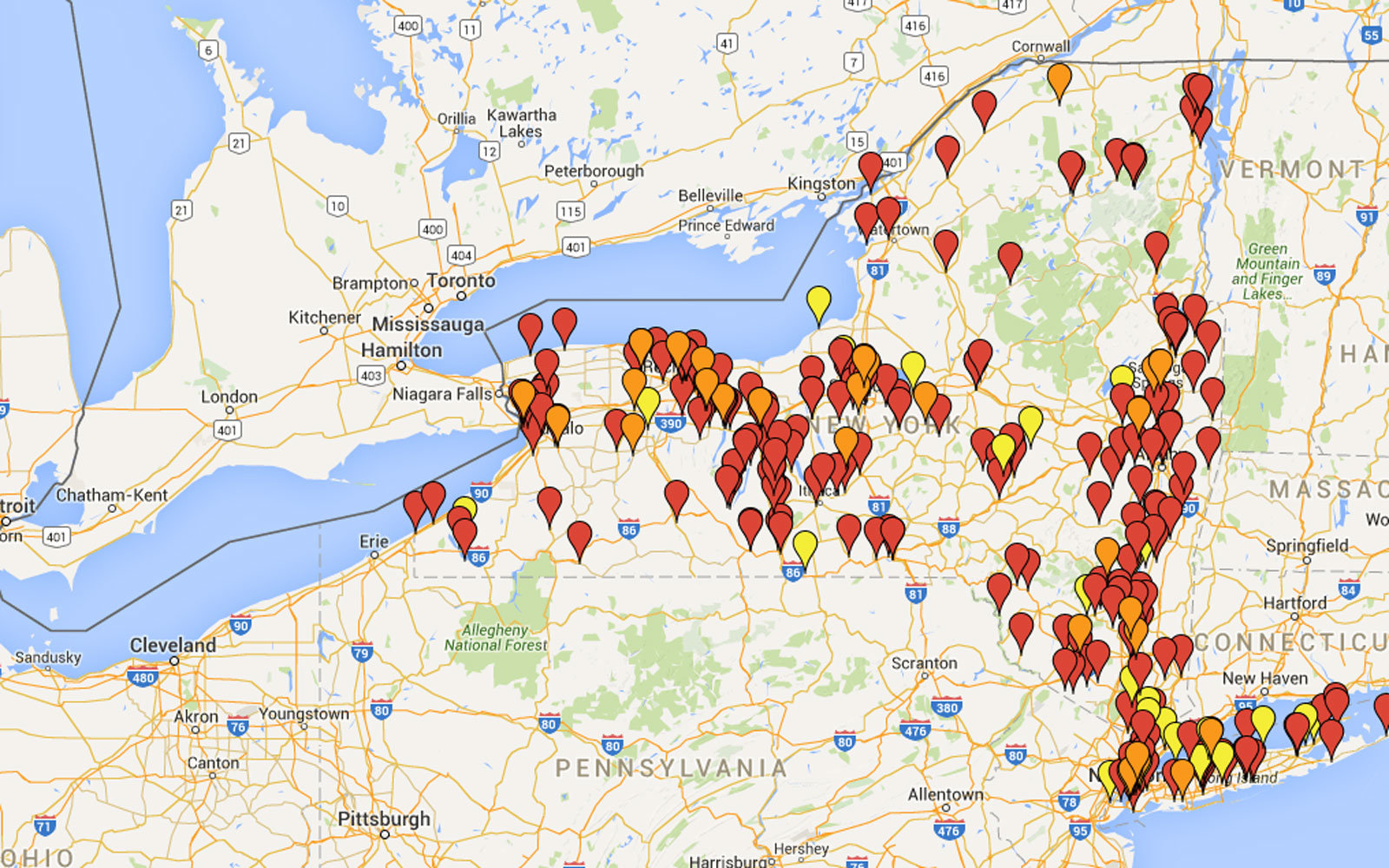 Every beer lover in New York state needs this map | Travel + Leisure