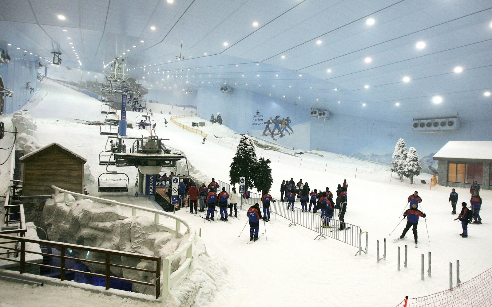 Dubai s indoor ski slopes are setting up sleeping tents