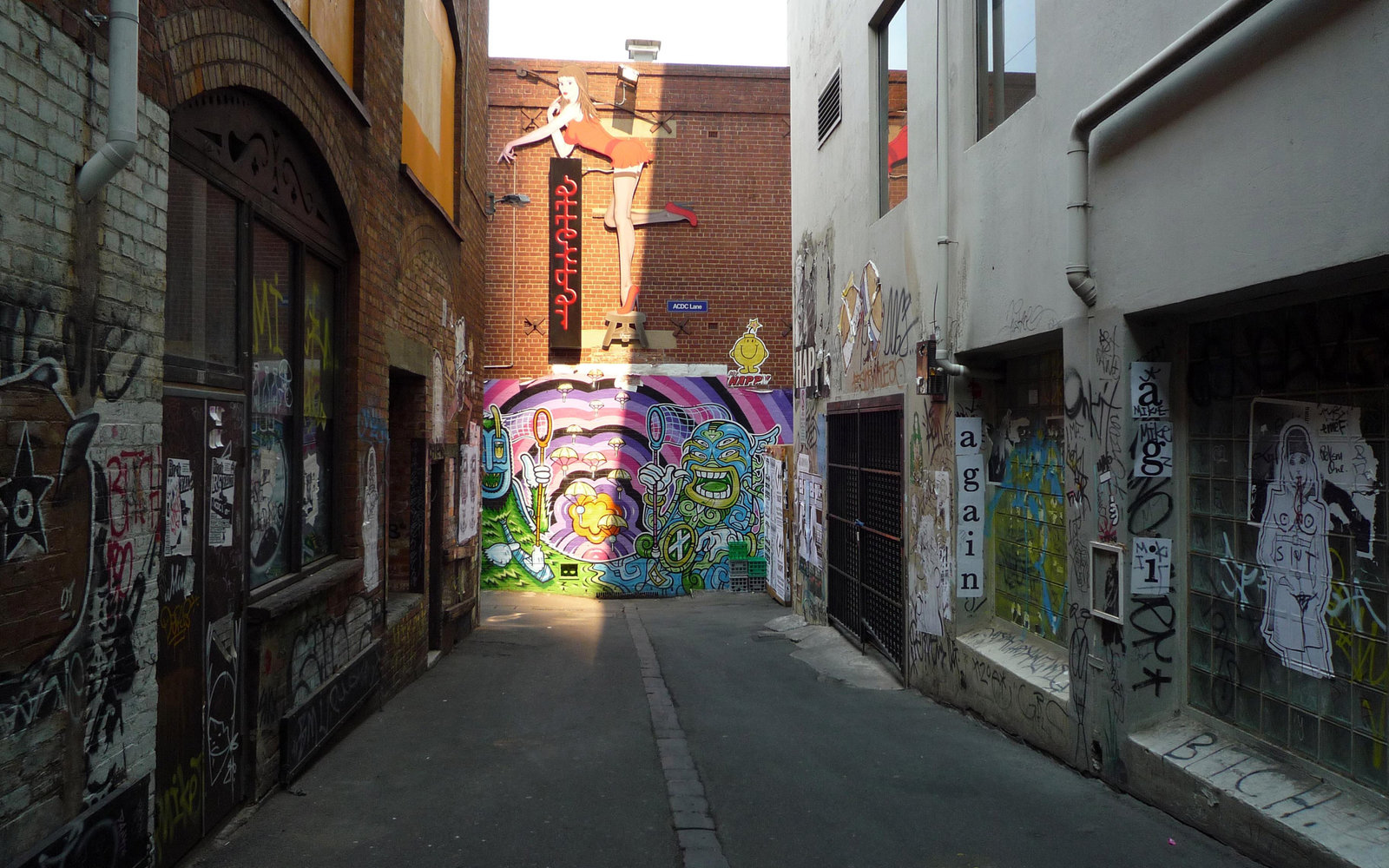 ACDC Lane in Melbourne