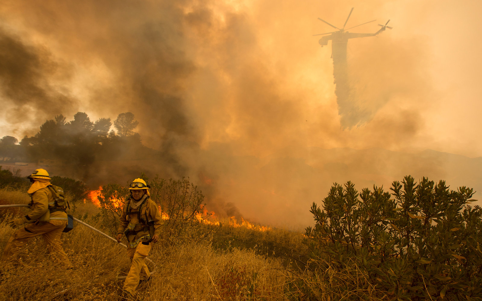 Los Angeles Sand Fire in Photos