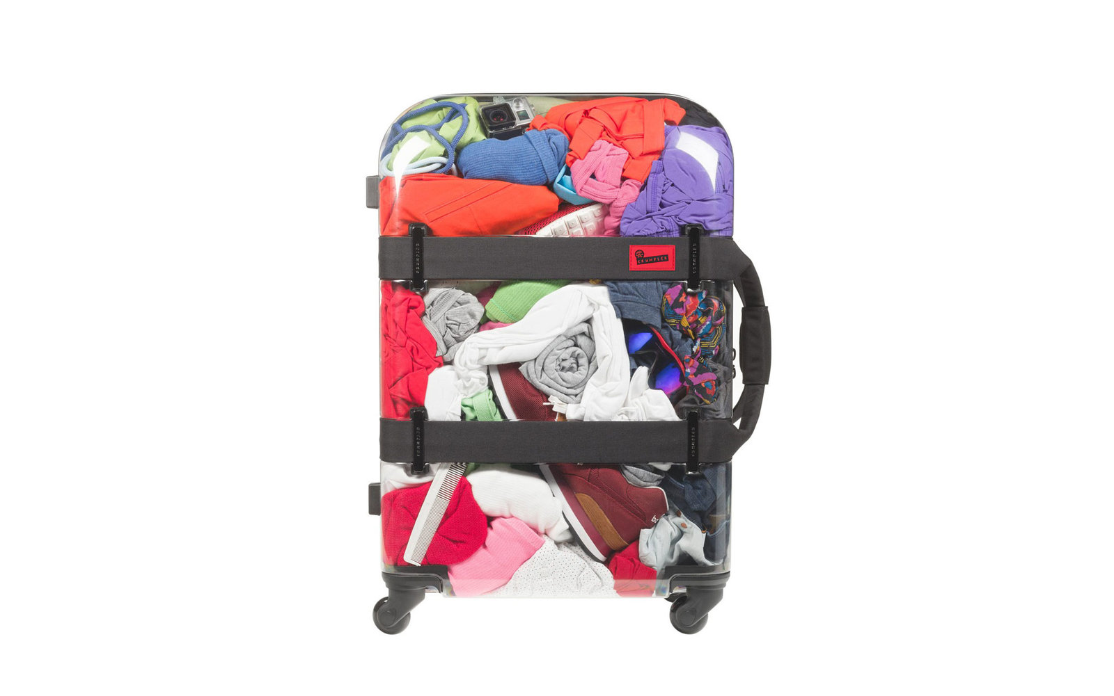 See-through suitcase